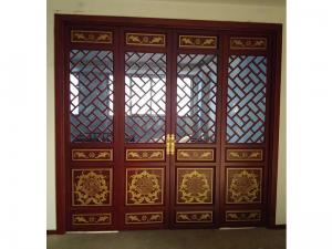 中式镂空雕花门
