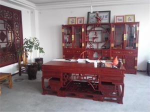中式书桌书柜