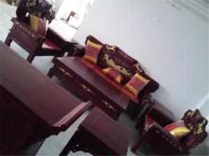 中式仿古实木宝马沙发